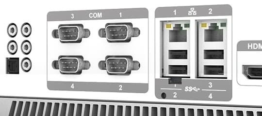 Isolated COM ports for safety protection