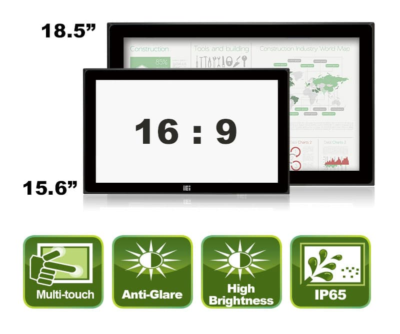 DM-FW15/19A – Wide Screen Monitor | Industrial Computer and
