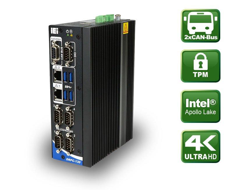 DRPC-130-AL – Lüfterloser DIN-Schienen Embedded PC