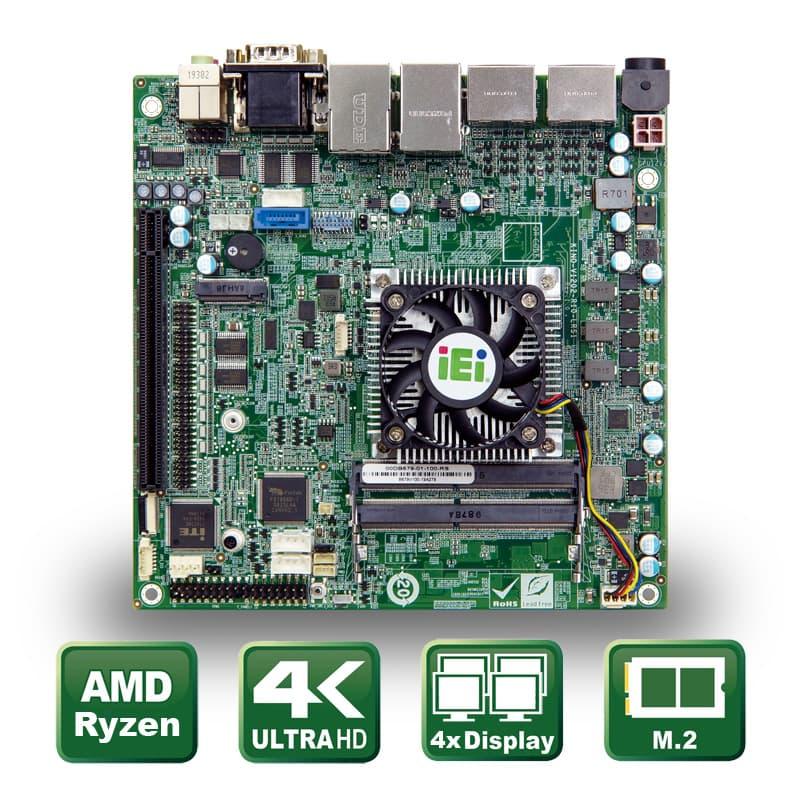Industrielles Mini ITX Mainboard mit AMD® Ryzen Embedded CPU