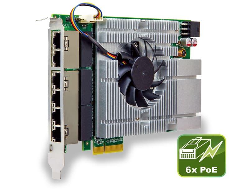 6-Port Power over Ethernet PCIe Erweiterungskarte