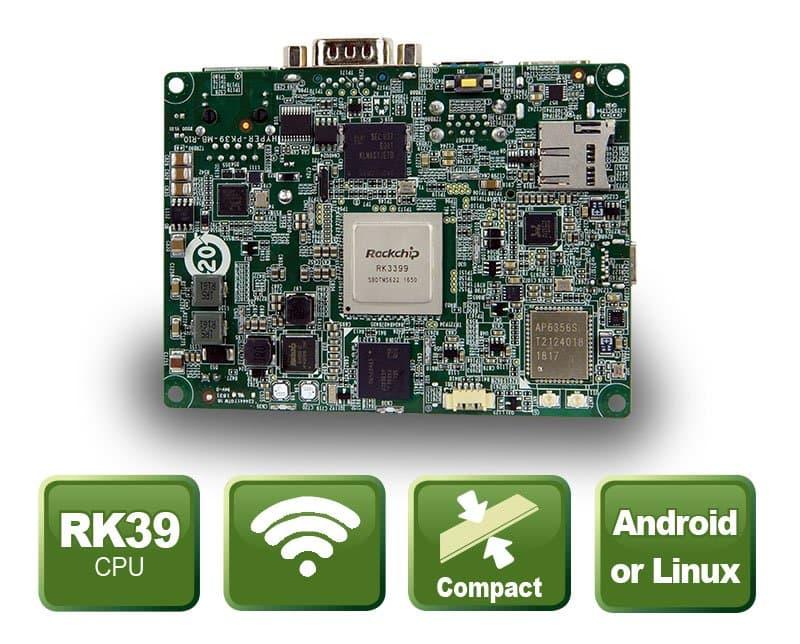 HYPER-RK39 - PICO-ITX Embedded Board mit Rockchip 3399 SoC