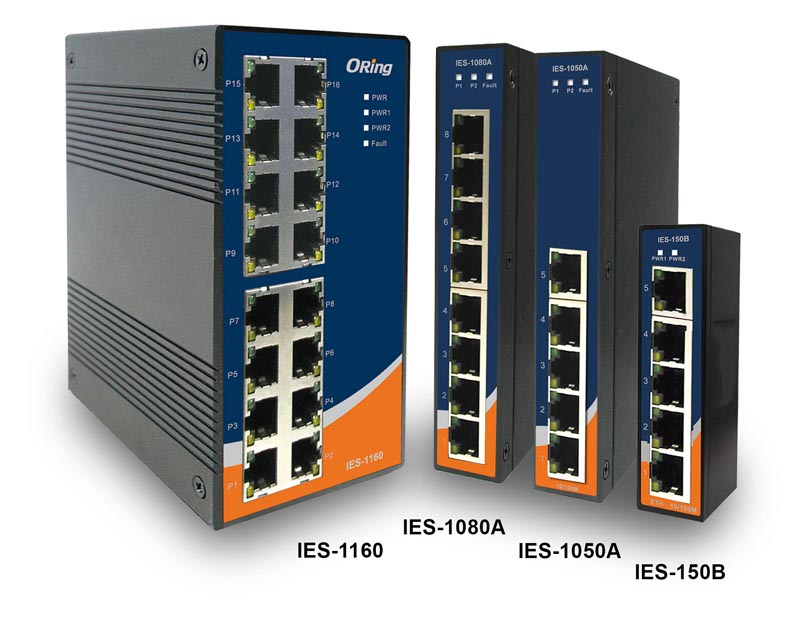 IES-Serie – 5/8/16-Port Fast Ethernet Switche