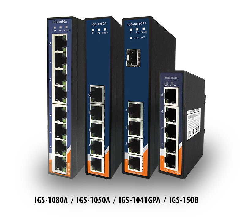 IGS-Serie – 4/5/8-Port Gigabit Ethernet Switche