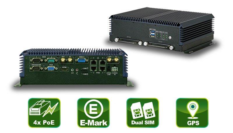 IVS-300 – Embedded PC mit 4 PoE LAN Ports