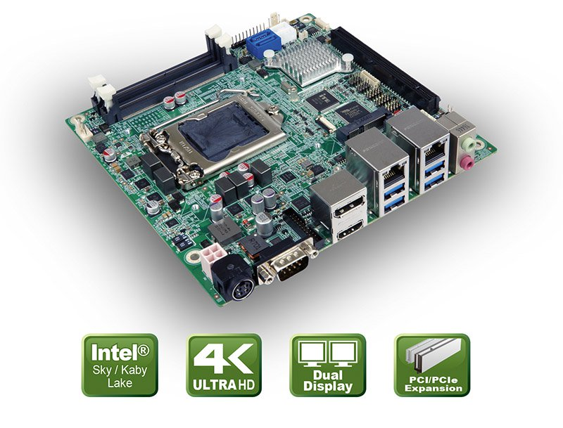 KINO-DH110 – Kaby Lake CPU Board mit Mini-ITX Formfaktor