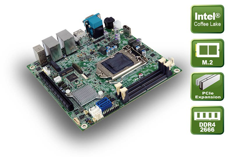 KINO-DH310 – Mini-ITX Board mit Coffee Lake CPU