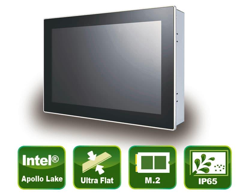 "Industrieller 10,1"" Panel PC mit True-Flat PCAP Touch Screen"