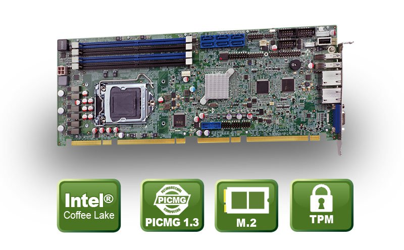 PCIE-Q370 – PIGMG 1.3 Coffee Lake CPU Karte