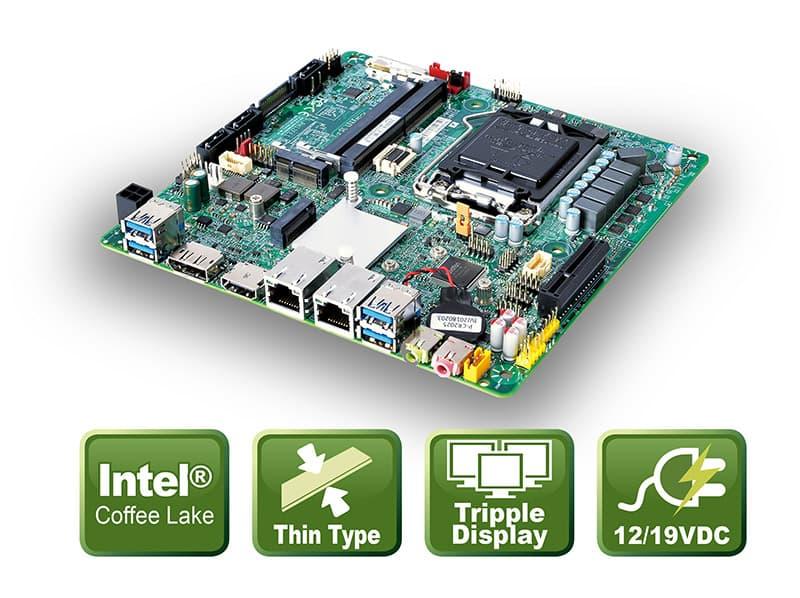 PH12FEI – Thin Mini-ITX Board mit Coffee Lake CPU