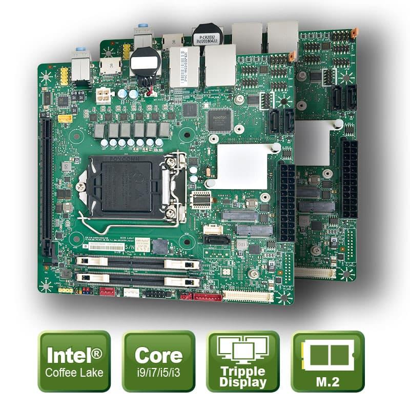 Mini ITX Board für die 9te/8te Generation Core i9/i7/i5/i3 Prozessoren