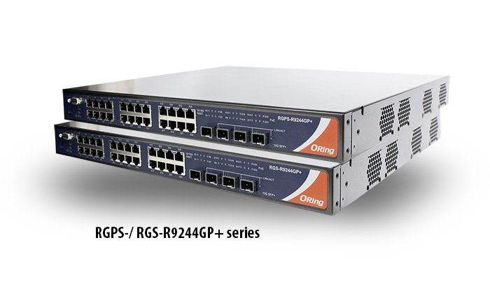 RGPS-R9244GP+ – Industrieller Rackmount Ethernet Switch