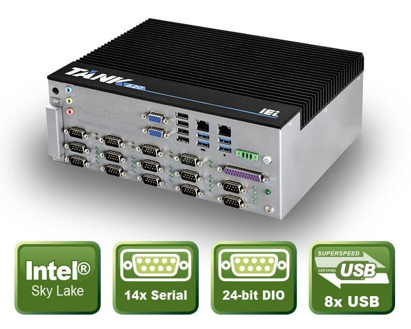 TANK-620 – Lüfterloser Embedded PC für 24/7 Dauerbetrieb