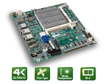 tKINO-AL – Flaches Mini-ITX Board mit Apollo Lake SoC
